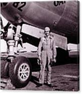 Wwii, Paul Tibbetts, Usaf Officer Canvas Print