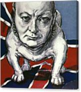 Wwii:churchill Poster 1942 Canvas Print