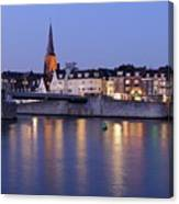 Wyck In Maastricht In The Evening Canvas Print