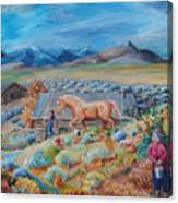 Wyoming Ranch Scene Canvas Print