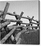 Wyoming Snow Fence Canvas Print