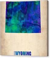 Wyoming Watercolor Map Canvas Print