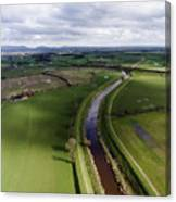 Wyre From The Air Canvas Print