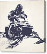 X Games Snowmobile Racing 2 Canvas Print
