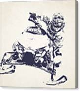 X Games Snowmobile Racing 5 Canvas Print