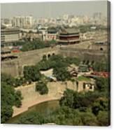 Xi'an City Wall With Skyline Canvas Print