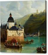 Xixth Century French School Pfalzgrafenstein Castle Canvas Print