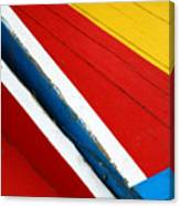 Xochimilco Boat Abstract 1 Canvas Print