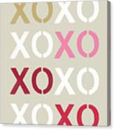 Xoxo- Art By Linda Woods Canvas Print