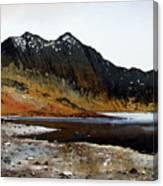Y Lliwedd Ridge From Lake Llyn Llydaw Canvas Print