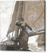 Yachting Girl Canvas Print