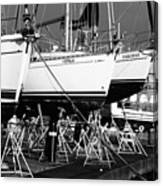 Yachts On Drydock Canvas Print
