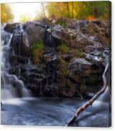 Yacolt Falls In Autumn Canvas Print