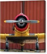 Yale And Hangar - 2018 Christopher Buff, Www.aviationbuff.com Canvas Print