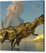 Yangchuanosaurus Dinosaurs Canvas Print