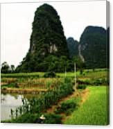 Yangshuo's Limestone Karsts Canvas Print