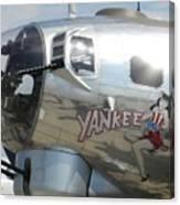 Yankee Lady Nose Art Canvas Print