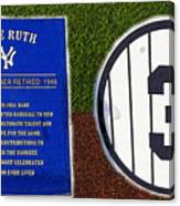 Yankee Legends Number 3 Canvas Print