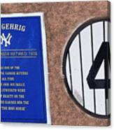 Yankee Legends Number 4 Canvas Print