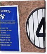 Yankee Legends Number 4 Canvas Print