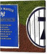 Yankee Legends Number 7 Canvas Print
