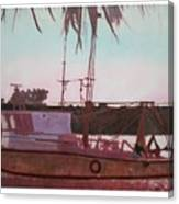 Yankee Town  Fishing Boat Canvas Print