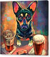 Yappy Hour Canvas Print