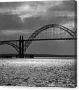 Yaquina Bay Bridge Black And White Canvas Print