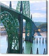 Yaquina Bay Bridge Br-9002 Canvas Print