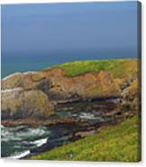 Yaquina Head Lighthouse And Bay Canvas Print
