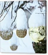 Yarn In The Snow Canvas Print
