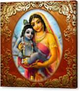 Yashoda And  Krishna 3 Canvas Print