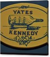 Yates Kennedy Sign Provincetown Canvas Print
