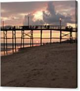 Yaupon Pier Sunset Canvas Print