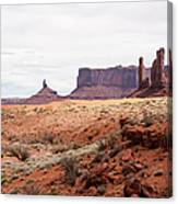 Yei Bi Chei And Totem Pole Formation Canvas Print