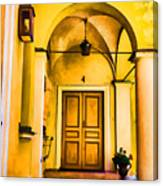 Yell Hall And Door Canvas Print