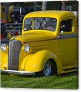 Yellow 30's Chevy Pickup Canvas Print