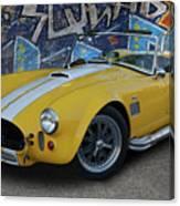 Yellow Ac Cobra  Canvas Print