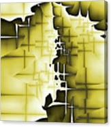 Yellow And Black 4 Canvas Print