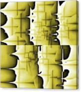 Yellow And Black 6 Canvas Print