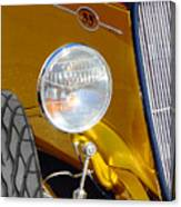 Yellow And Blue Hot Rod Headlight Canvas Print
