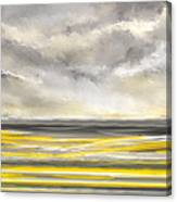 Yellow And Gray Seascape Art Canvas Print