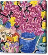 Fleur De Vessel Canvas Print