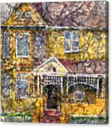 Yellow Batik House Canvas Print
