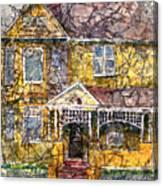 Yellow Batik House Canvas Print