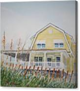 Yellow Beach House Wrightsville Beach Canvas Print
