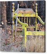 Yellow Bench Canvas Print