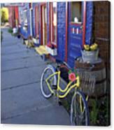Yellow Bicycle Silverton Colorado Canvas Print