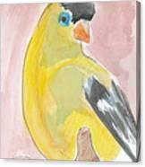 Yellow Bird 56 Canvas Print