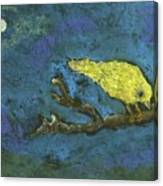 Yellow Bird And  Moon Canvas Print
